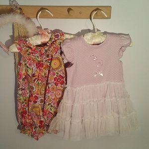 Vintage Pair of 6 Months Vera Bradley Summer Dress
